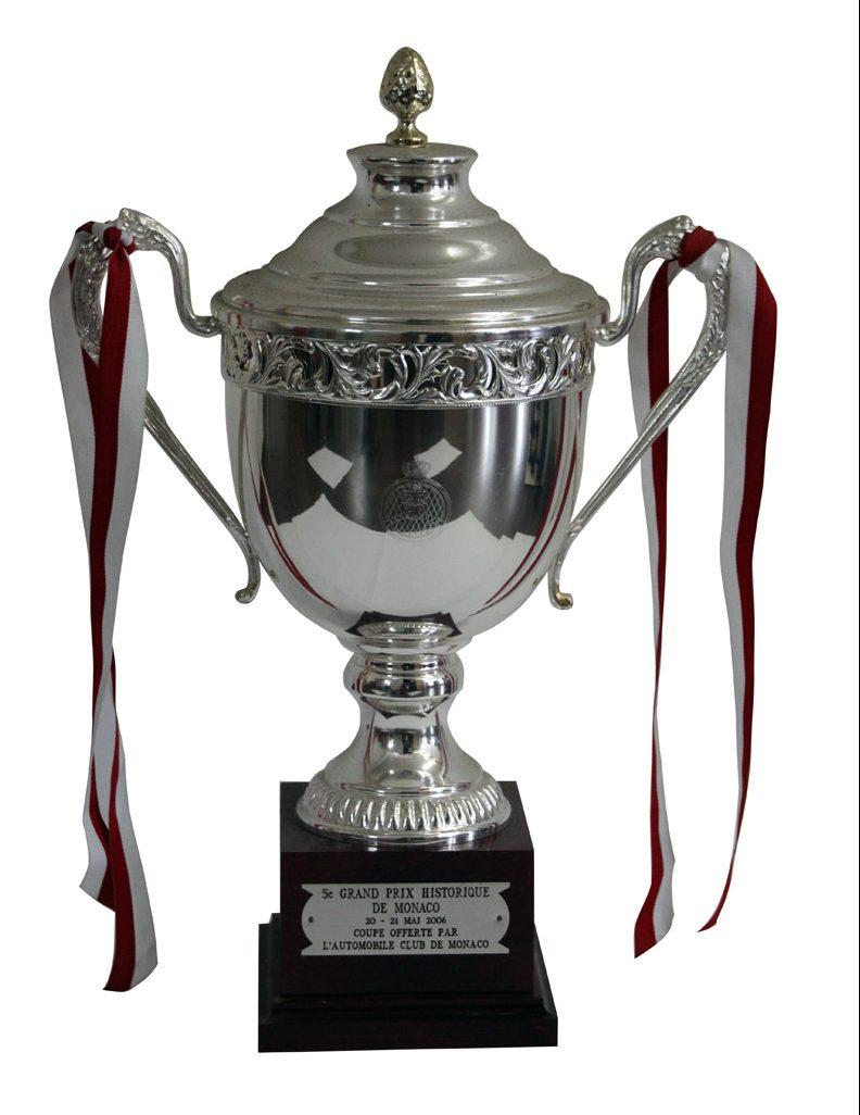 Pokal für den dritten Platz beim Grand Prix de Monaco Historique