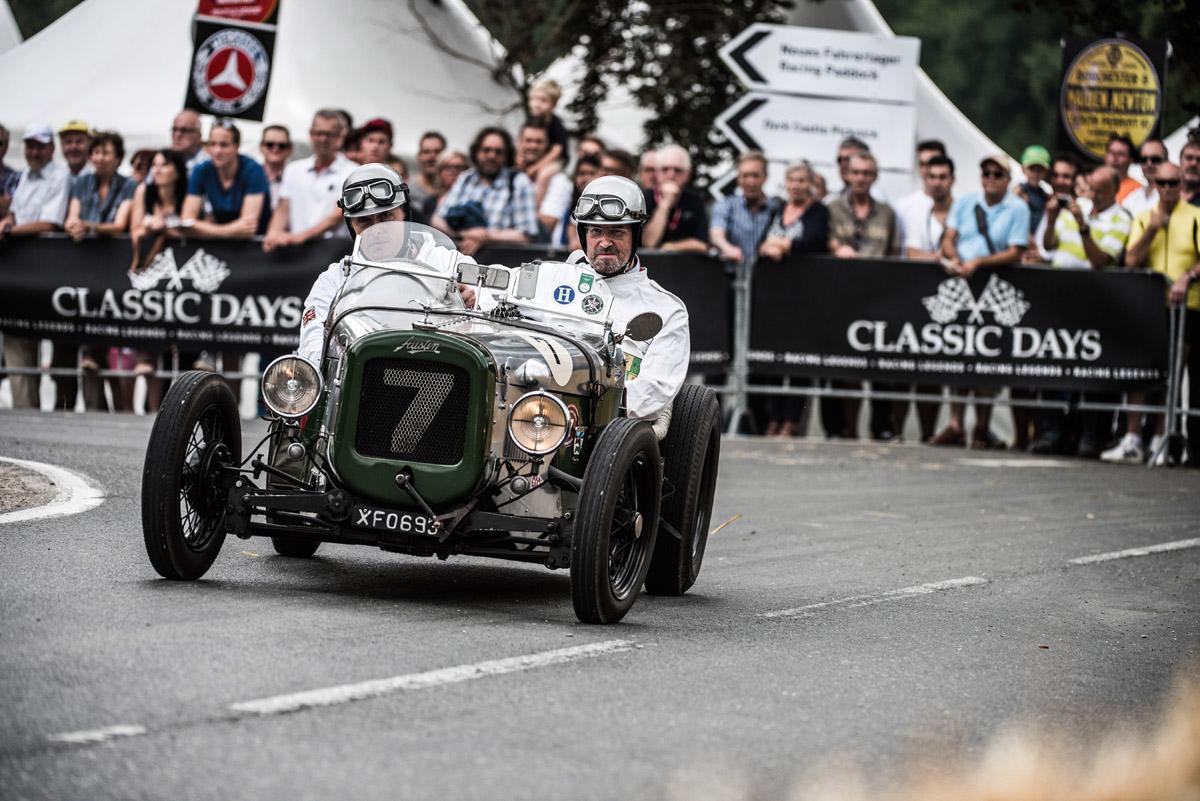 Zwei Mitglieder des Benjafield's Racing Club fahren bei den Classic Days