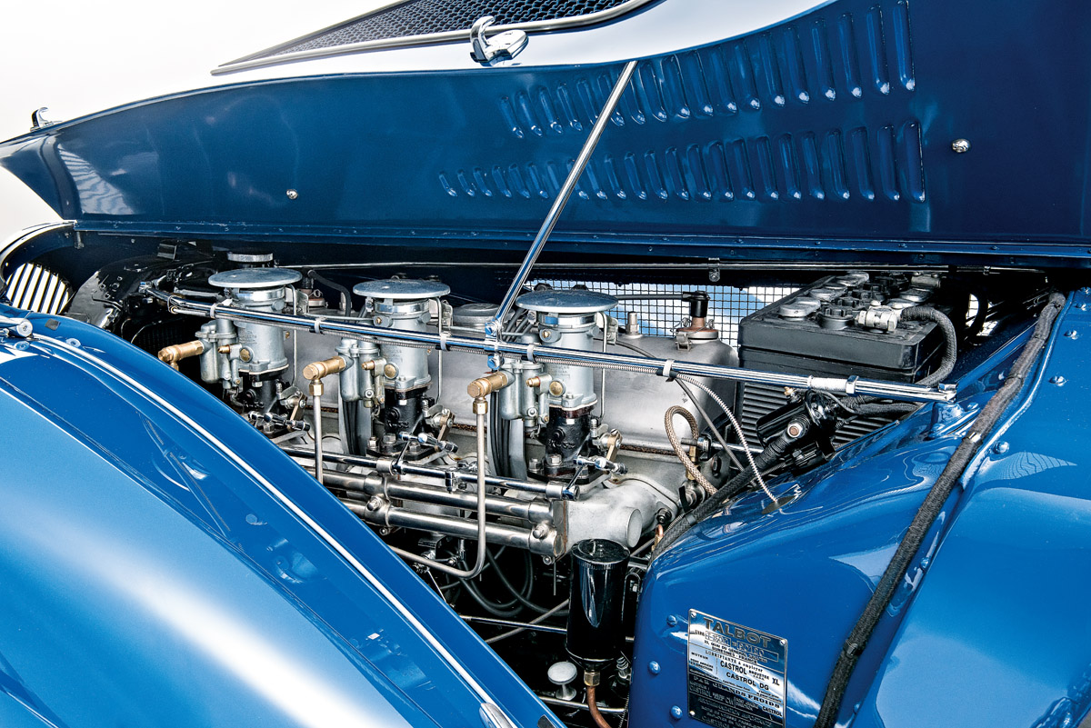 Motor des Talbot-Lago T150C SS