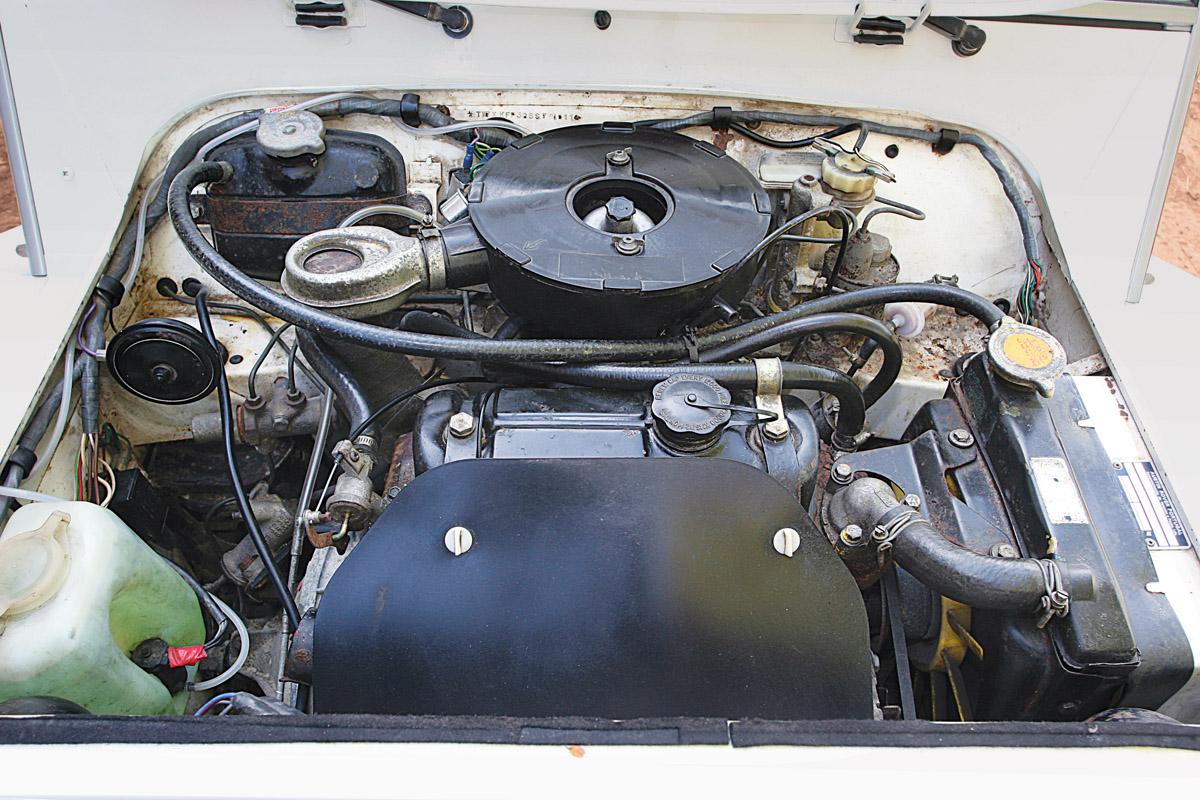 Motor des Mini Moke