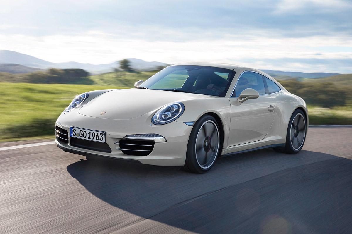 Jubiläumsmodell 50 Jahre Porsche 911, fahrend