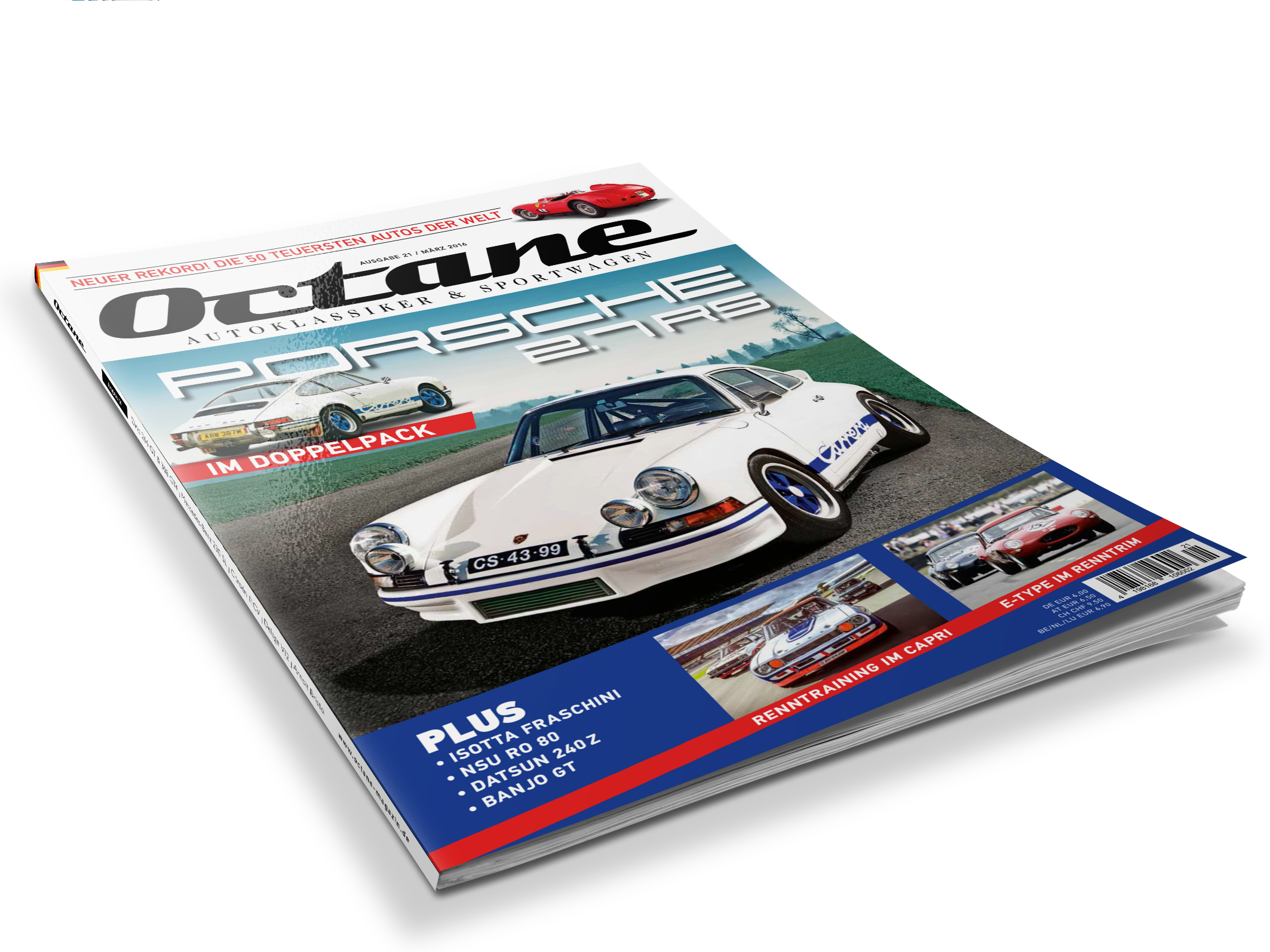 #21, OCTANE, Porsche 911 RS 2.7, Morgan Threewheeler, Ferrari 375 MM Spider, Datsun 240Z,, Ford Capri, Banjo GT Coupé