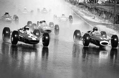 Formel 1 Rennen auf der Solitude 1964 auf regennasser Fahrbahn