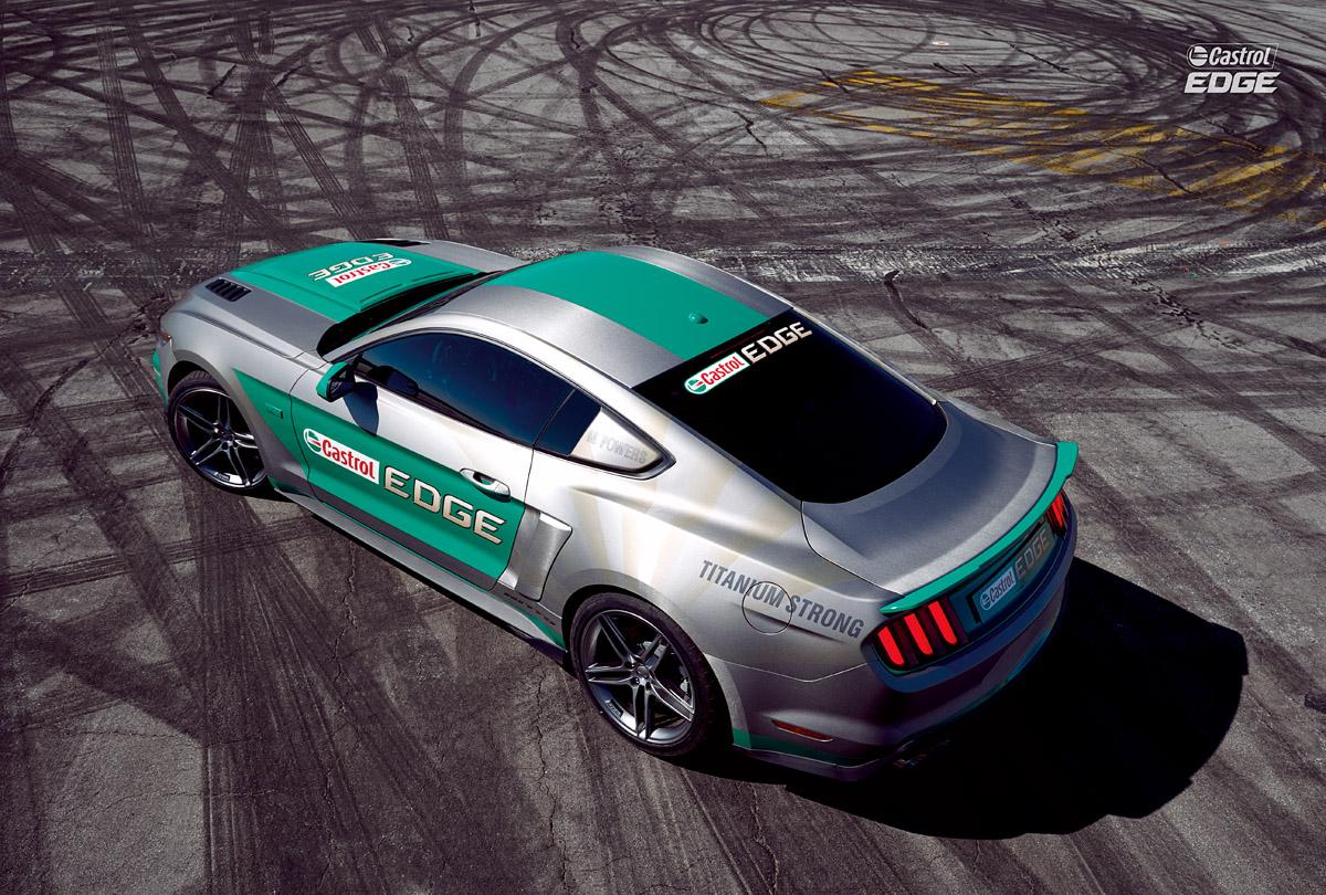 Ford Mustang aus der Vogelperspektive
