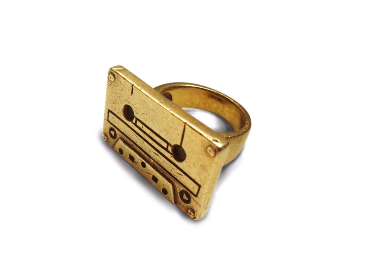 Fingerring mit Kassettendesign