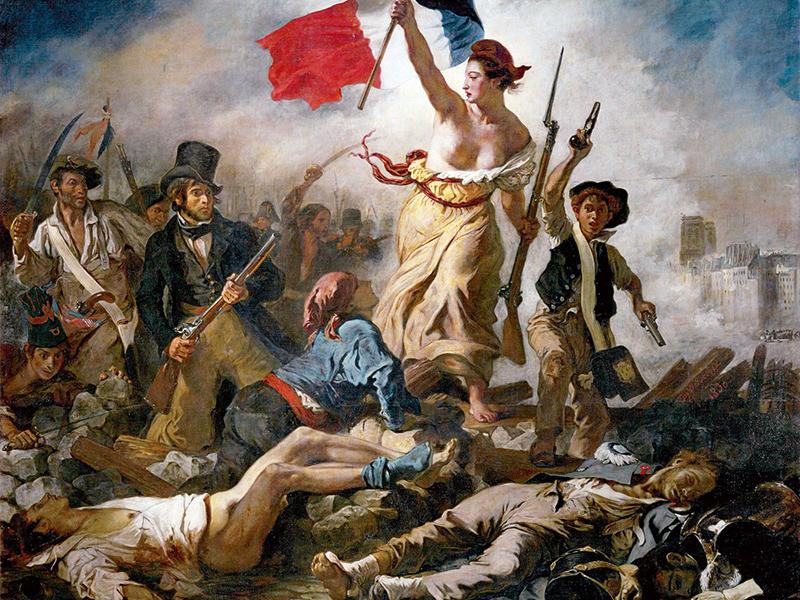 Historisches Gemälde der Marianne der französischen Revolution 1798