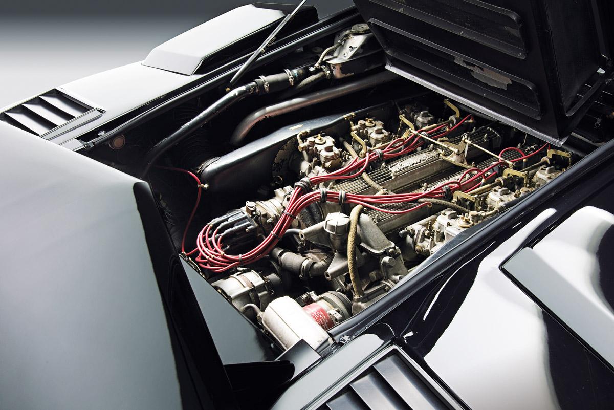 V12-Motor des Lamborghini Countach