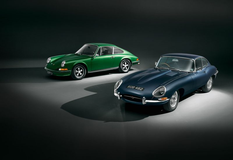 #47, Jaguar, E-Type, Porsche, 911, Vergleich, Ikone