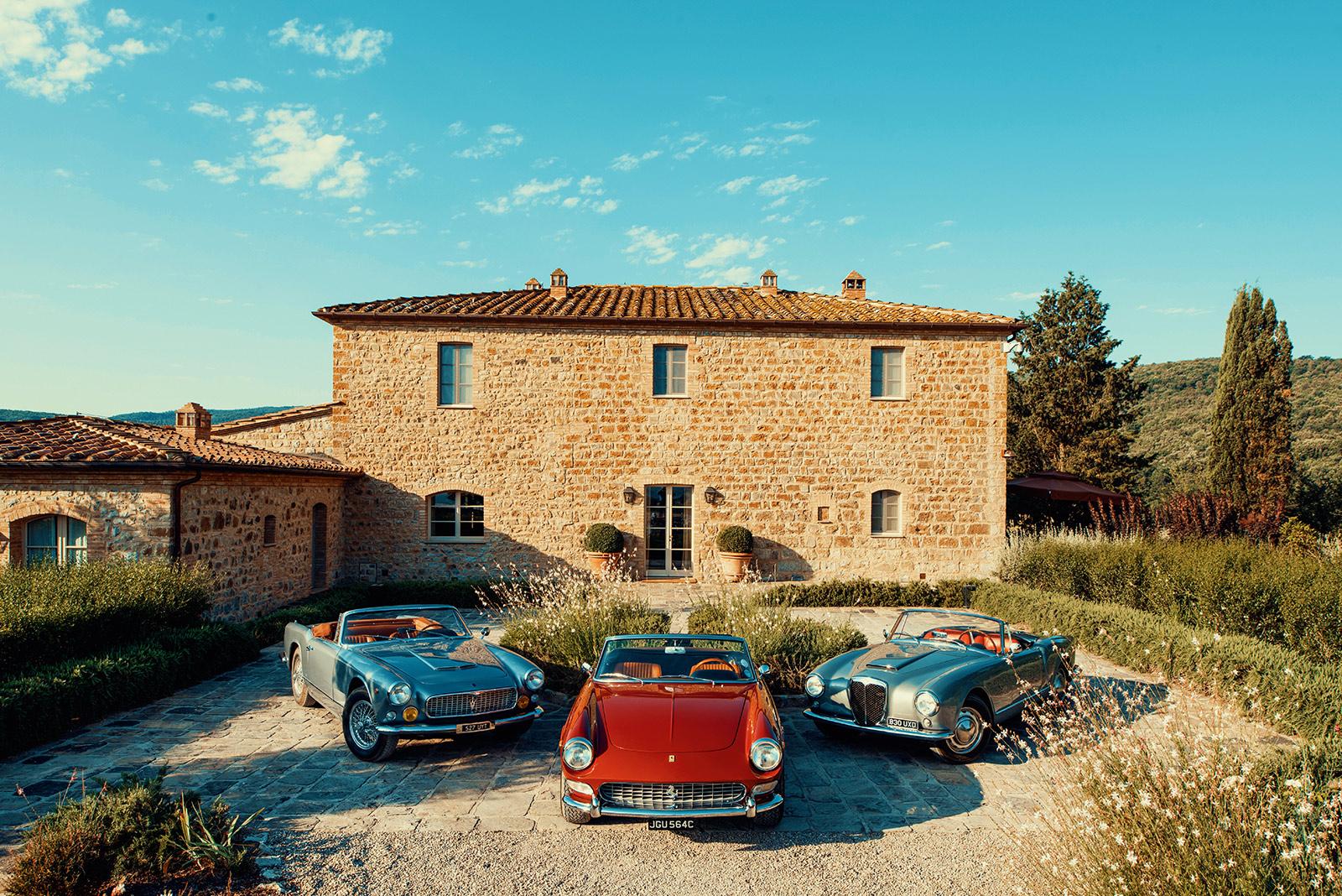 #43, Toscana, Maserati 3500 GT Spyder, Ferrari 275 GTS, Lancia B24S Convertible
