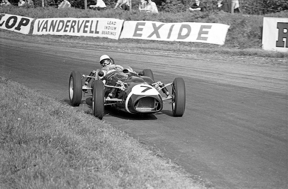 #36, Cooper, Stirling Moss, Ferguson, Oulton Park