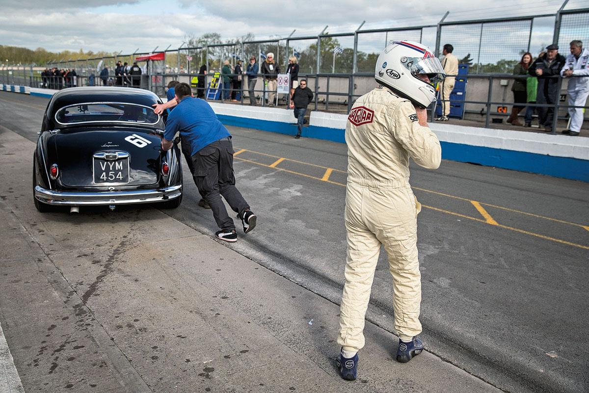 Jaguar Mk1 Renntourenwagen John Maden Donington Park D-Type