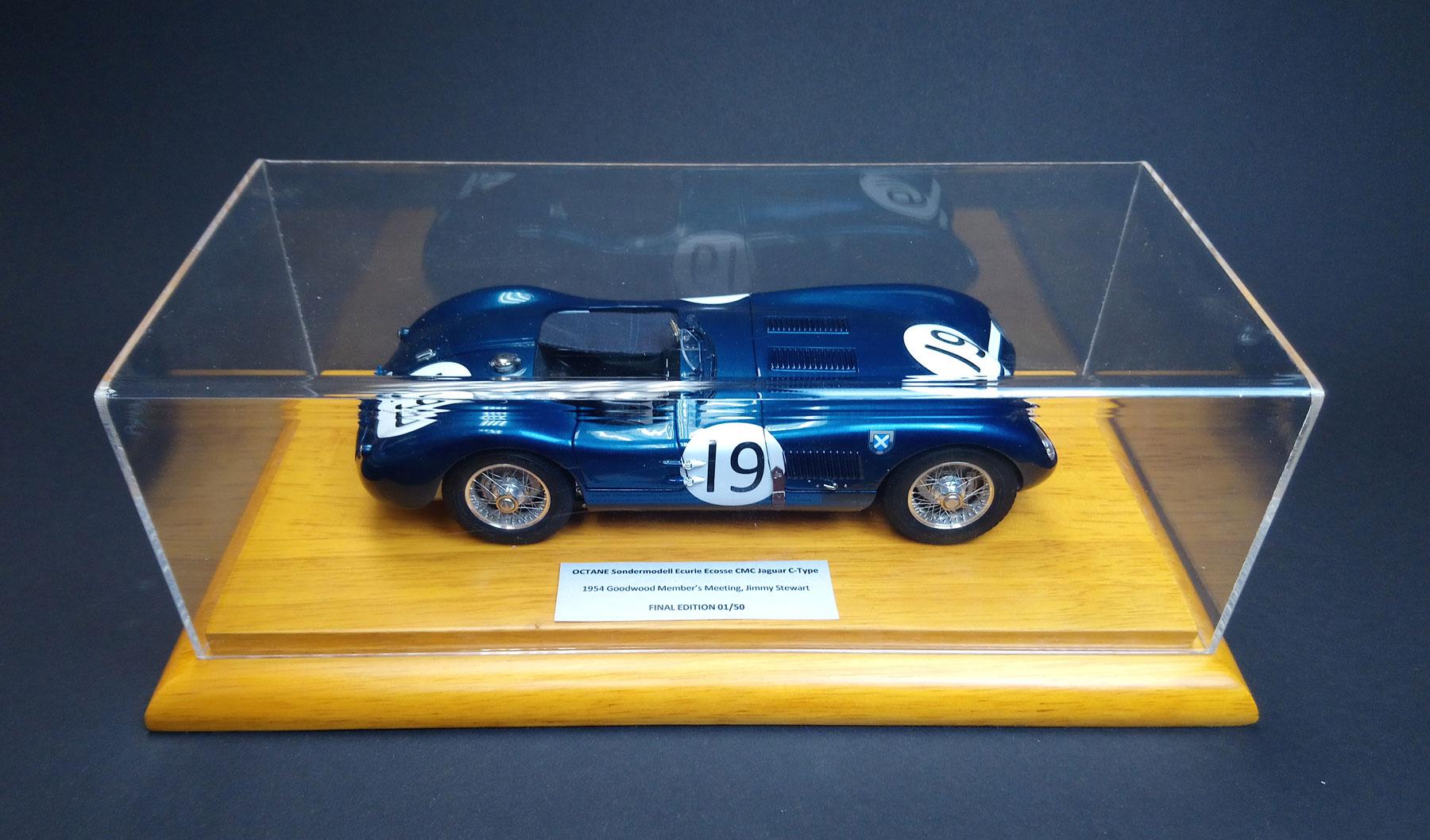 """Exklusiv Modell OCTANE Jaguar C-Type """"Ecurie Ecosse"""" von CMC"""
