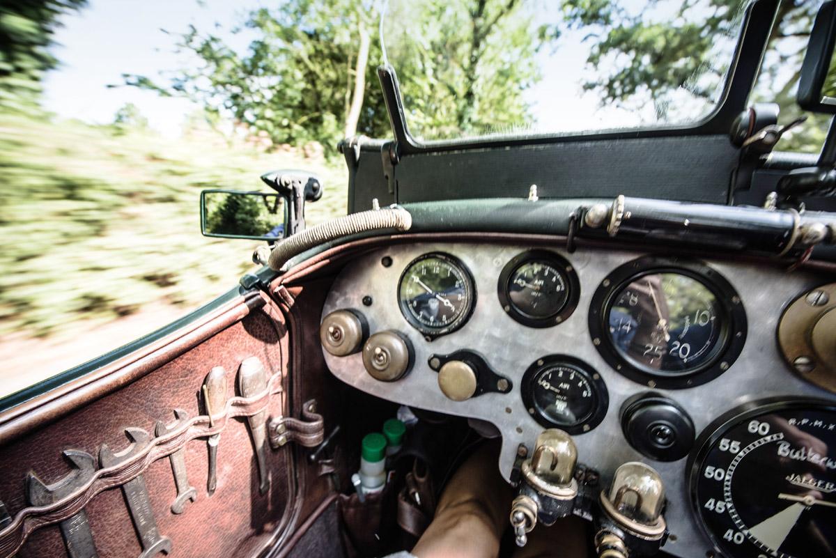 Cockpit eines Bentleys