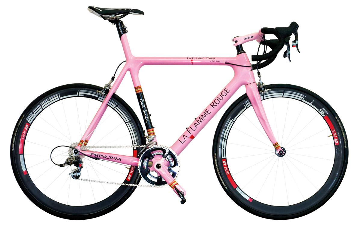 """Rosafarbenes Fahrrad """"La Flamme Rouge"""""""