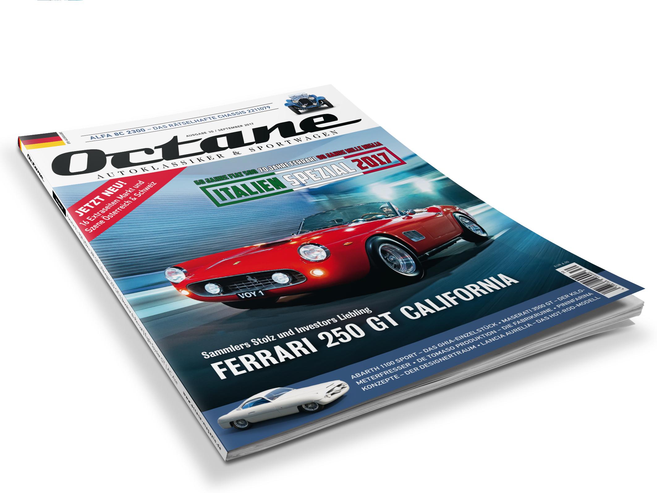 Ferrari 250, California Spyder, Alfa 8C 2300, Abarth 1100 Sport Ghia, Maserati 3500GT, Lancia Aurelia