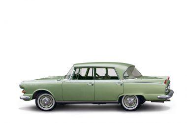 Borgward P100 im Seitenprofil