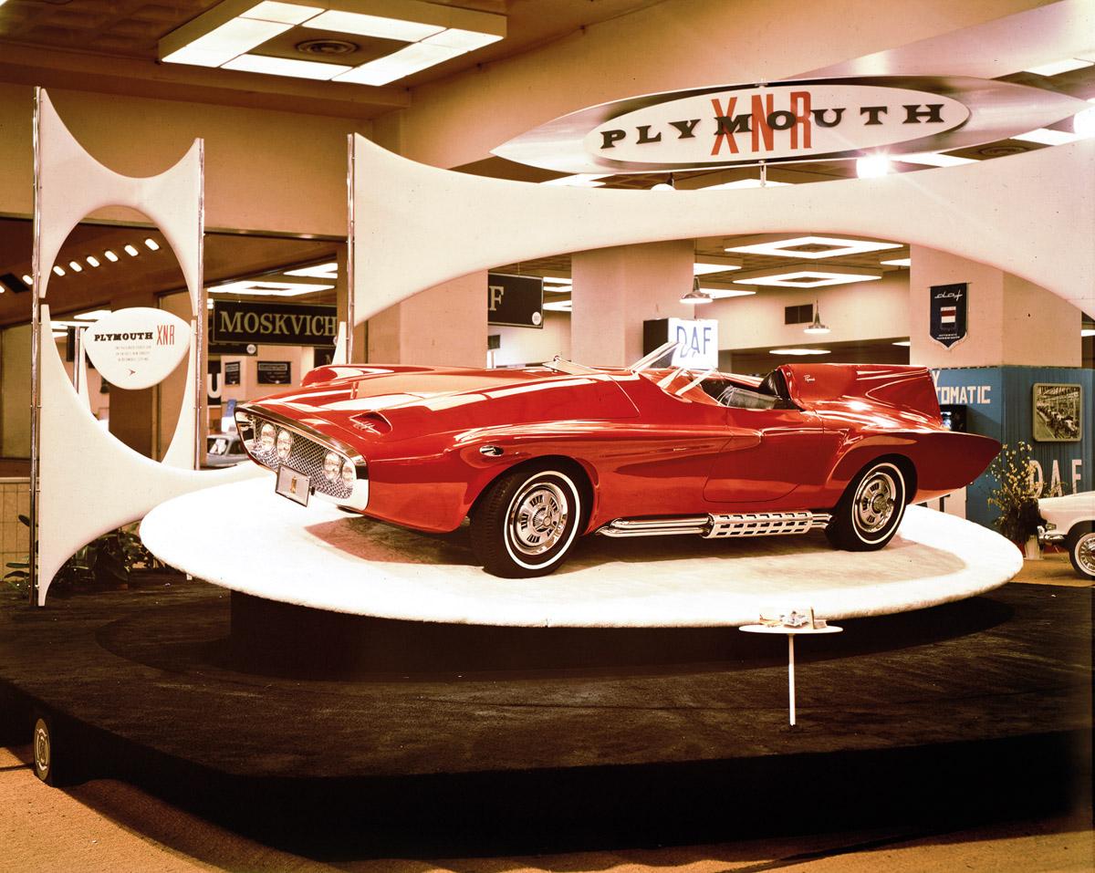 Plymouth XNR bei seiner Präsentation 1960
