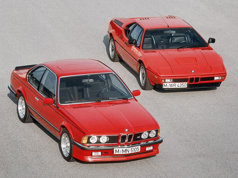BMW 6er und BMW M1 stehend