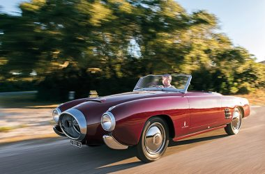 Lancia Aurelia Spider fahrend