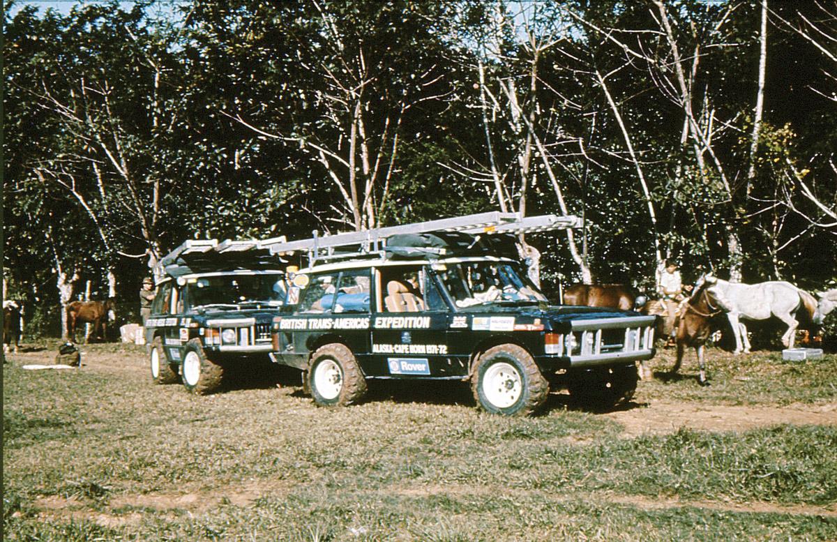 Zwei Range Rover 1972 auf der Panamericana