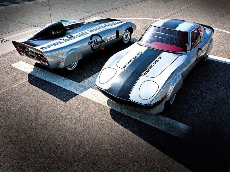 Die Zwei Opel GT Rekordwagen auf GT-Basis