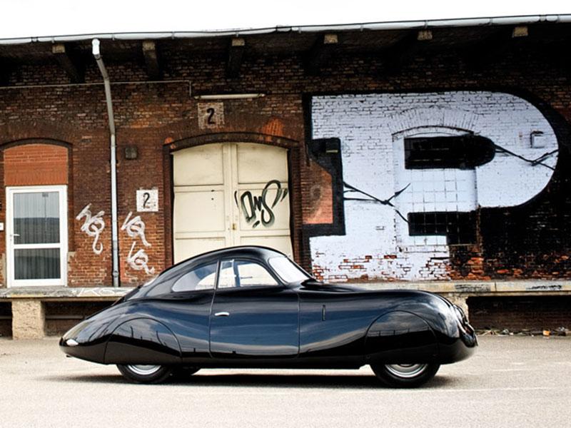 Porsche Typ 64 im Seitenprofil